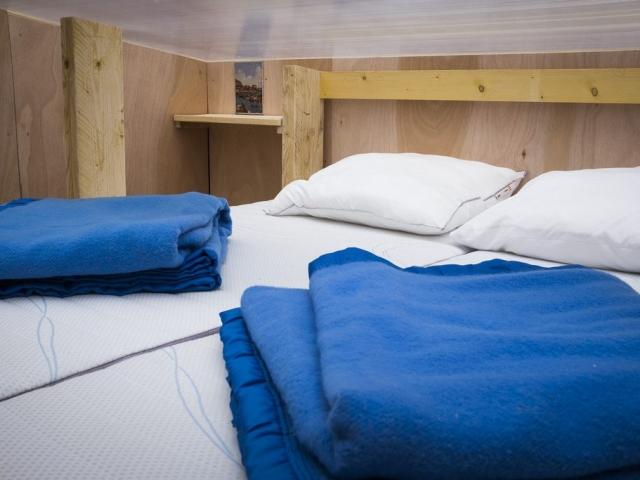 """A '""""intérieur de la cabane Trabucco (jusqu'à 4 personnes) - Inside the Trabucco cabin (up to 4 persons)"""